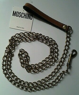 MOSCHINO by REDWALL CINTURA CATENA GUINZAGLIO CHAIN VINTAGE