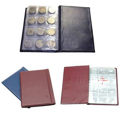 10 Pages 120 Coin Collection Holder Penny Pocket Money Tokens Storage Album Book