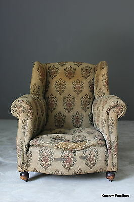 Antique Victorian Upholstered Chair Armchair Resto Project