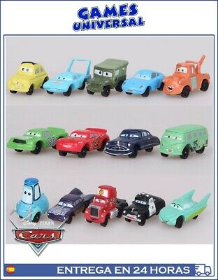 Disney Pixar lote 14 coches Cars rayo mcqueen Mate 3 a 5 cm