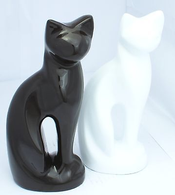 Pet Cat Figurine Urn for Ashes Cremation Memorial Funeral Burial Dark Brown Urn