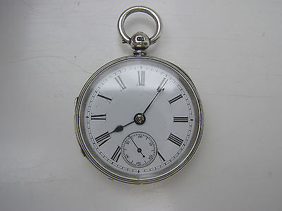 Solid Silver Fusee Pocket Watch - London 1930