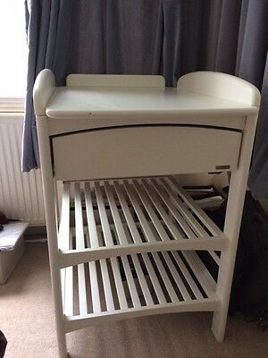 John Lewis Changing table white, used condition
