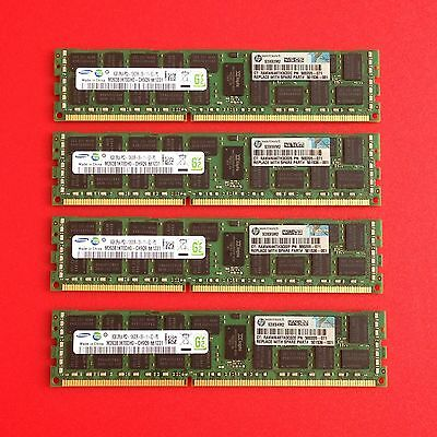 HP Genuine 501536-001 32GB (4x8GB) 2Rx4 PC3-10600R DDR3-1333 Proliant Server Mem