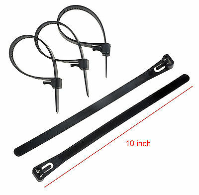 "10-200pcs 10"" Releasable Reusable Plastic Zip Cable Tie Wraps Ratchet Ties Wire"