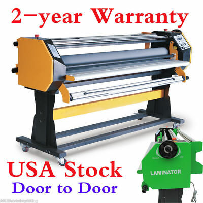 "USA Stock 67"" Full-auto Single Side Wide Format Hot / Cold Laminator with Stand"