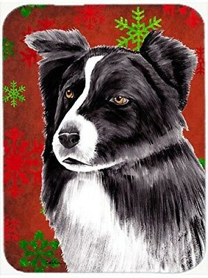 (Red and Green Snowflakes) - Caroline's Treasures Border Collie Red and Green