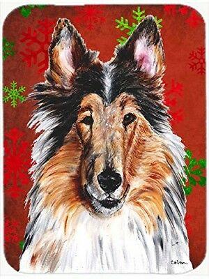 (Red and Green Snowflakes) - Caroline's Treasures SC9742LCB Collie Red