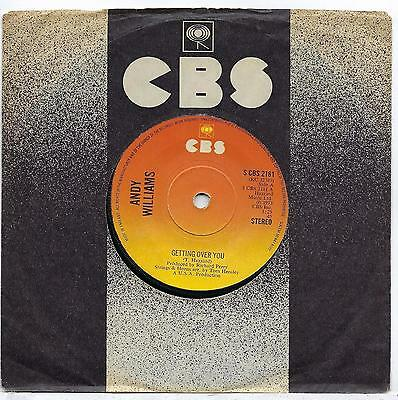 """Andy Williams - Getting Over You - 7"""" Single"""