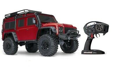 Traxxas TRX-4 Land Rover Defender rot red 1:10 4WD RTR Crawler TQi 2.4GHz Wirele