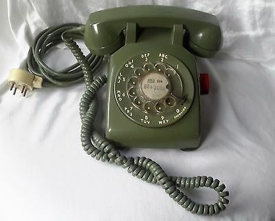 Vintage 1961 GREEN Rotary Dial Telephone phone BELL SYSTEM by WESTERN ELECTRIC