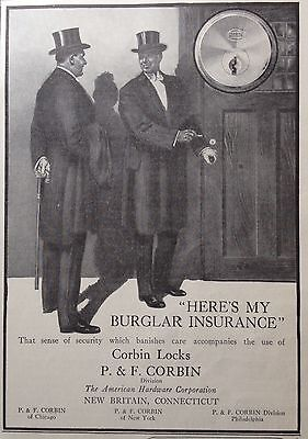 1913 Ad(G2)~P. & L. Corbin Locks, New Britain, Conn.
