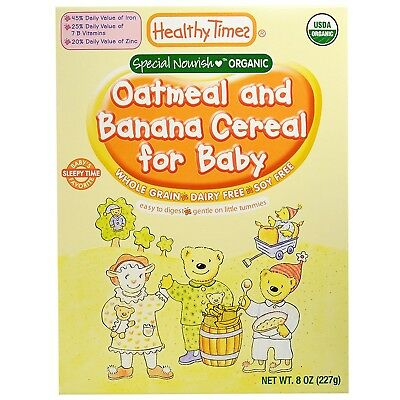 Healthy Times Cereal for Baby (Organic Oatmeal and Banana). Free Shipping
