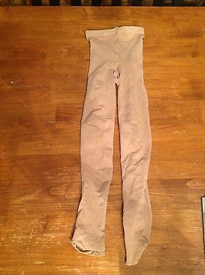 tan ballet tight child's small brand BLOCK;no runs; hand washed;line dried
