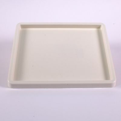 White Plastic Inking Tray 20cm x 25cm Large One Well Paint Mixing Palette