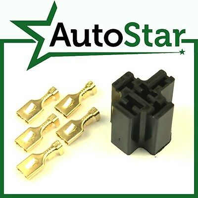 Relay Plug & Loose Terminals. For 4, 5 Pin & Flasher Relays (Holder Socket Base)