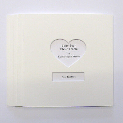 Baby Scans Photo Mount with Heart Shape window pack of 5, fit 23x23 frames