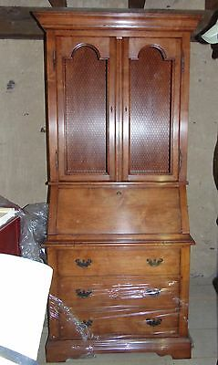 Guy Chaddock Melrose Collection Secretarial Writing Secretary Desk Book Cabinet