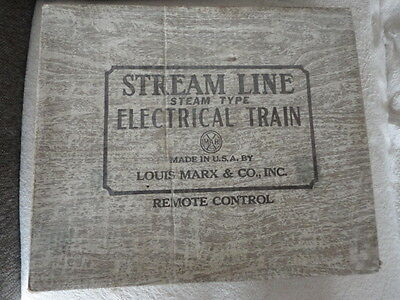 Louis Marx & Co. Stream Line Steam Type Electrical Train Set+Ovp