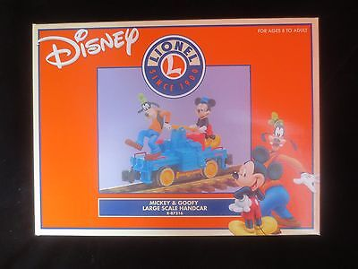 Lionel Disney Mickey & Goofy Large Scale Handcar -- 8-87216 -- NEW IN THE BOX