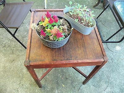Antique Solid Cherry Table Accent Table With Cross Leg Stretcher Early Hardware