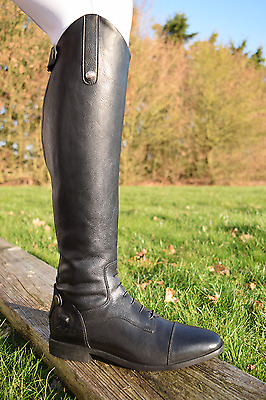 Mark Todd SPORT COMPETITION BOOT Leather Foot Strech Black EU 36-45 FREE SOCKS