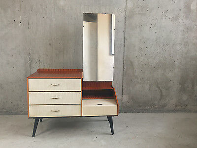 Vintage 1960's mid century chest of drawers /dressing table full length mirror