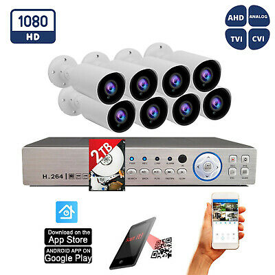 8 Channel Full D1 H.264 Video Security System 800 TVL Camera CCTV w/1 TB HDD