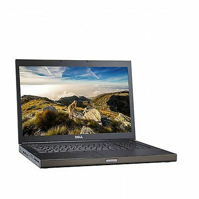 """Dell Precision M6800 17.3"""" Gaming Laptop PC 2x 500GB HDDs Core i7 Windows 10"""