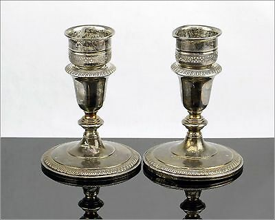 """Vintage Fisher Silversmiths Inc., Sterling Weighted 833, Two Candle Holders 5.5"""""""