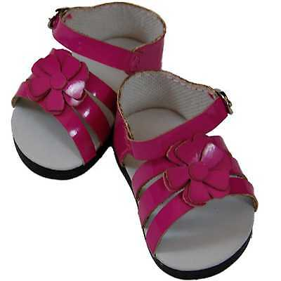 "6 PAIR WHOLESALE DOLL SHOES FOR 18"" American Girl Pink Strappy Sandal NEW"