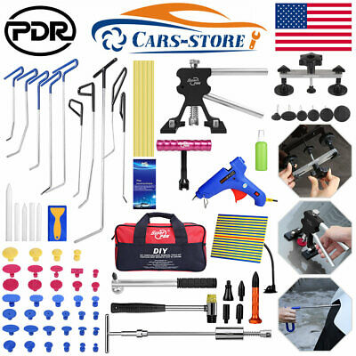Paintless Dent Removal Puller PDR Tools Push Rods Hail Repair Auto Body Tail Set