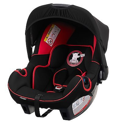 Obaby Group 0+ Child/Baby Car Seat Infant Carrier B Is For Bear Red