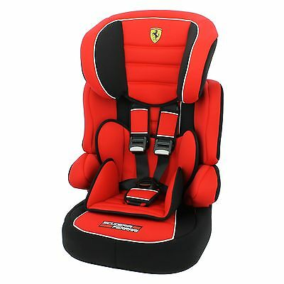 Nania Beline SP LX Group 1/2/3 Child/Baby Car Seat - Ferrari Red
