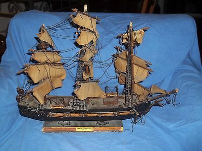 "Vintage Wooden Model Ship  FRAGATA ESPANOLA ANO 1780  16"" x 15"" Needs Repair"