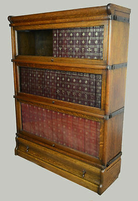 Antique / Oak Globe Wernicke Barristers Bookcase Circa 1900