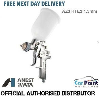 Anest Iwata AZ3 HTE2 Gravity Feed Spray Gun 1.3 Perfect For Base Coat Or Topcoat
