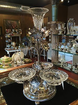 Silverplate & Crystal Epergne