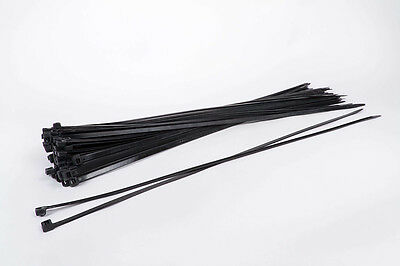 100 Lenght Industry Cable Ties 29 1/2x0 5/16in Again Solvable Usable Black