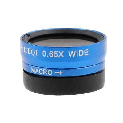 3 in 1 Fisheye Wide Angle Macro Lens for iPhone 5 6 7 Samsung Galaxy S6 Blue