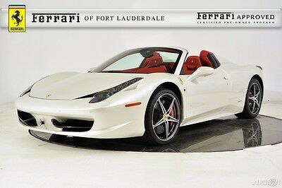 2014 Ferrari 458 Spider Certified Pre-Owned CPO Atelier Special Paint Carbon LED Racing Sport iPod Shields Camera Sensors HiFi