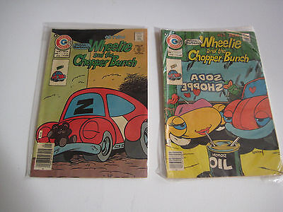 Lot Of  2  Wheelie And The Chopper Bunch Vintage Charlton Comics Comic Books