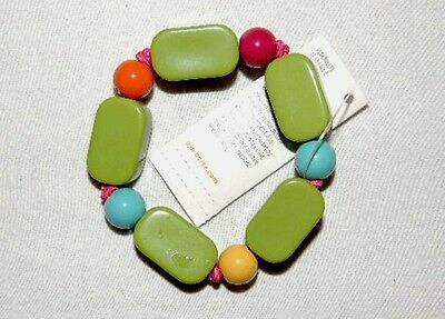 NEW GYMBOREE Woodland Friends Green Blue Orange Yellow Beaded Bracelet Jewelry
