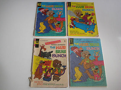 Lot Of 4 The Hair Bear Bunch Whitman Vintage Comic Books