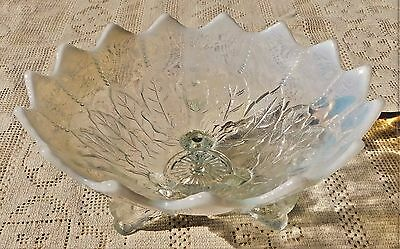 BEAUTIFUL ANTIQUE EARLY 20th CENTURY NORTHWOOD GLASS OPALESCENT GLASS DISH