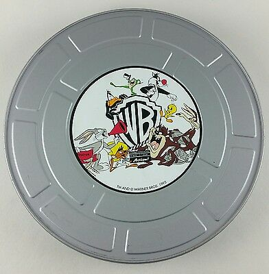 Looney Tunes Film Movie Tin Canister Warner Bros 1995 Bugs Taz Sylvester Daffy