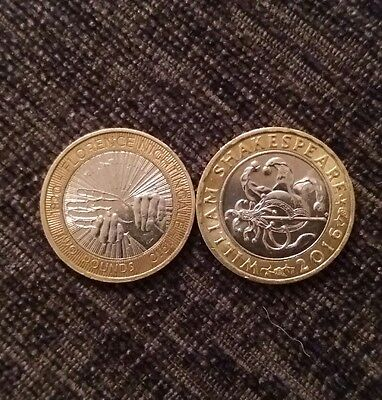 William shakespeare 2 coin and florence nightgale 2 pound for Coin firenze
