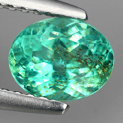 1.04 Ct NATURAL BEAUTIFUL PARIPA BLUE APATITE OVAL MOZAMBIQUE LOOSE GEMSTONE.!!