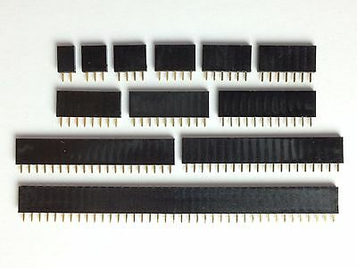 20x Pin Header | 2,3,4,5,6,7,8,10,12,20,40 Pin | Pitch 2.54 mm