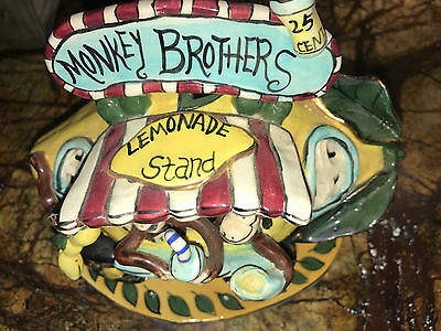 Blue Sky Clayworks By Heather Goldminc Monkey Brothers Lemonade Stand 2001 Rare